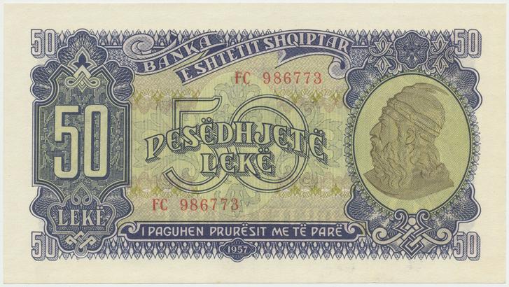 Albánie, 50 Leke 1957, P.29