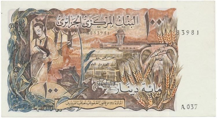Alžír, 100 Dinars 1970, P.128a
