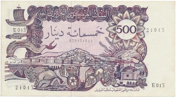 Alžírsko, 500 Dinars 1970, P.129