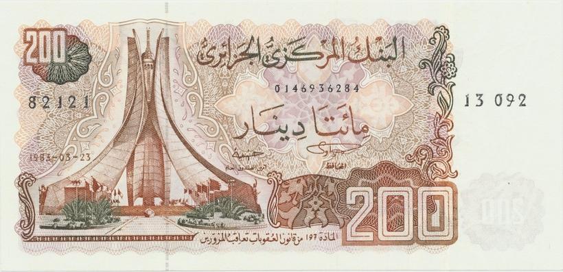 Alžírsko, 200 Dinars 1983, P.135a