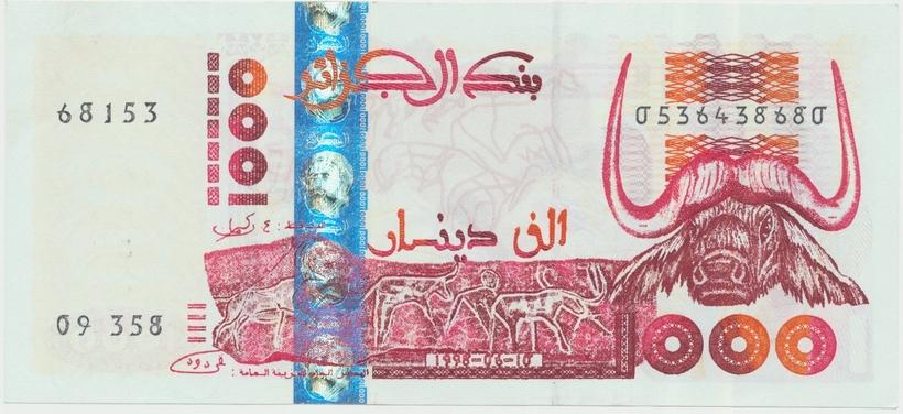 Alžírsko, 1000 Dinars 1992, P.140