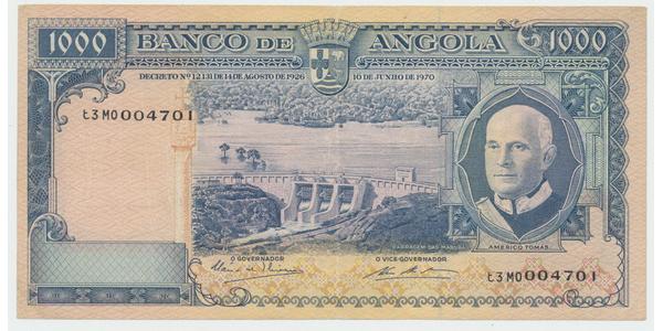 Angola, 1000 Escudos 1970, P.98