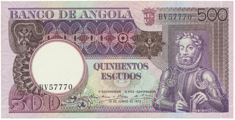 Angola, 500 Escudos 1973, P.107