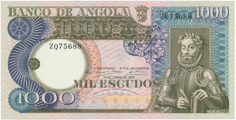 Angola, 1000 Escudos 1973, P.108