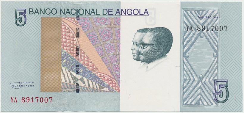 Angola, 5 Kwanzas 2012, P.151a