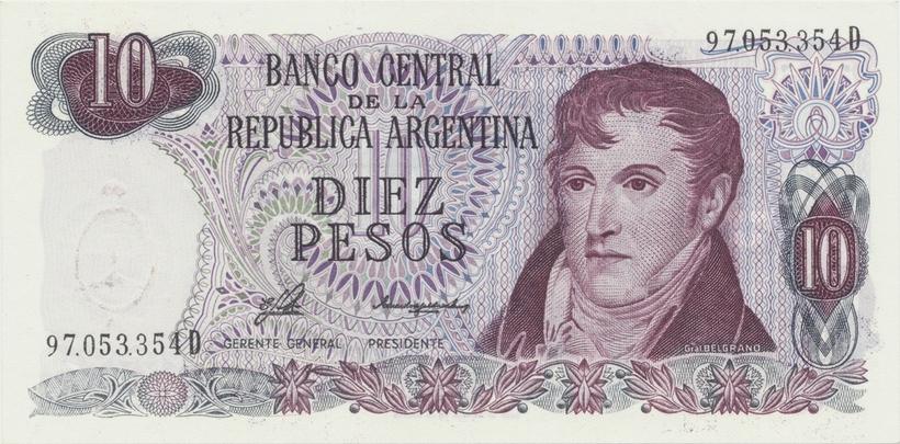 Argentina, 10 Pesos (1976~1983), P.300