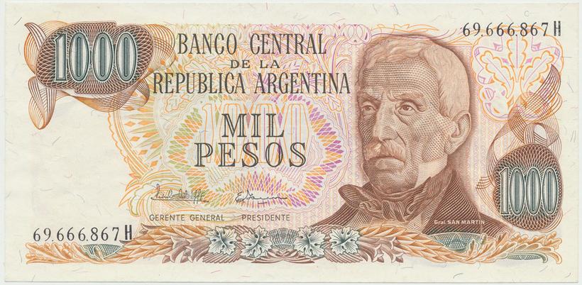 Argentina, 1000 Pesos (1976), P.304c