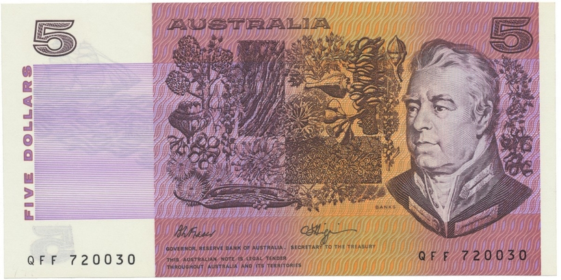 Austrálie, 5 Dollars (1990), P.44f