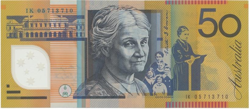 Austrálie, 50 Dollars 2005, plastová, P.60c