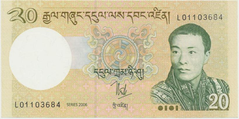 Bhútán, 20 Ngultrum 2006, P.30