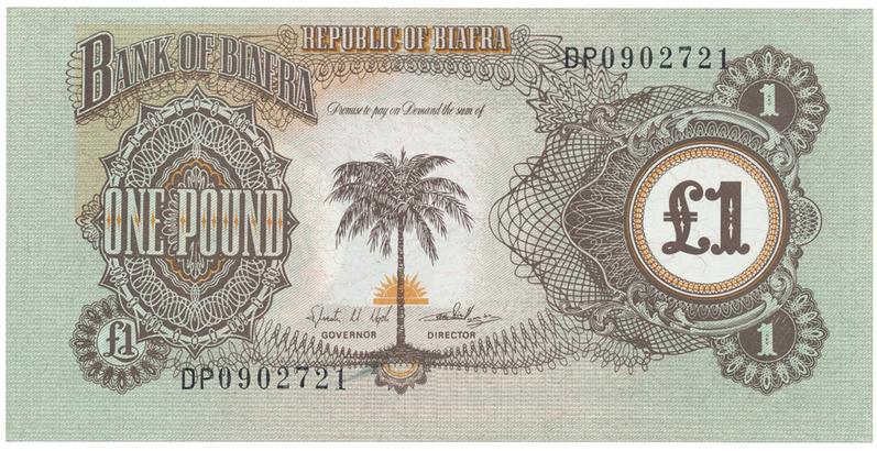 Biafra, 1 Pound (1968~69), P.5a
