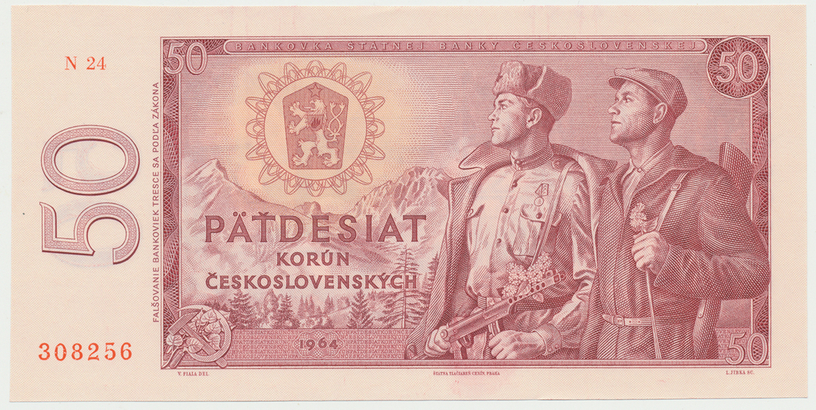 Československo, 50 Koruna 1964, série N, Hej.112bN, BHK.99b2