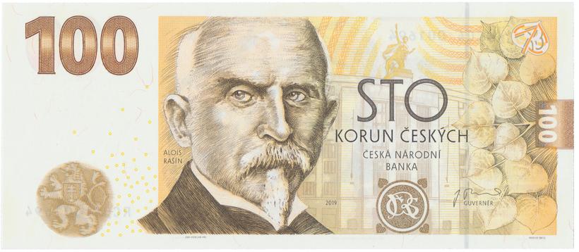 100 Koruna 2019, pamětní bankovka ke 100. výročí budování čs. měny