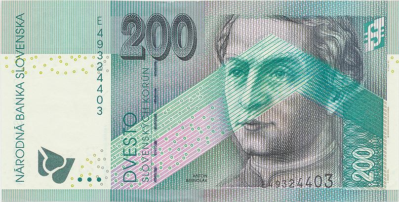200 Koruna / 30. 8. 2002, série E, Hej.SK40a1, BHK.SK13bE   N/UNC