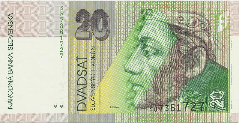 20 Koruna / 15. 9. 2004, série S, Hej.SK42a1, BHK.SK7fS   N/UNC
