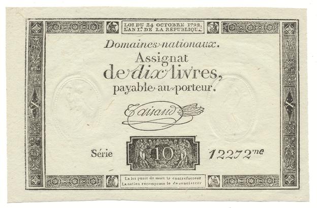 Francie, 10 Livres  24. 10. 1792, P.A66b