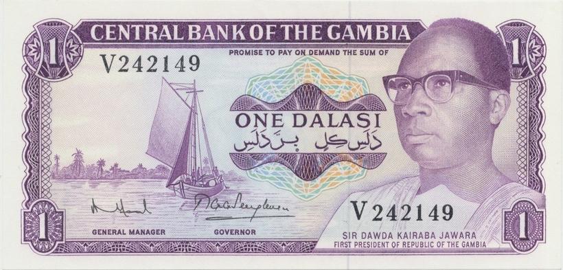Gambie, 1 Dalasi (1971~87), P.4g    N/UNC