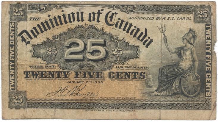 Kanada, 25 Cents 1900, P.9b