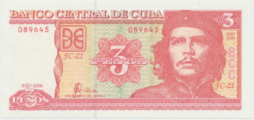 Kuba, 3 Pesos 2004~2006, P.128