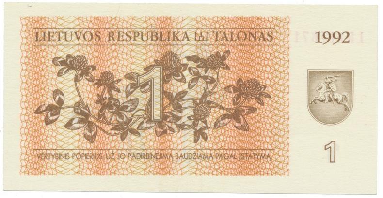 Litva, 1 Talonas 1992, P.39