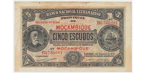 Mosambik, 5 Escudos 1941, P.81