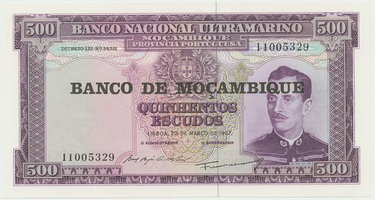 Mosambik, 500 Escudos 1967(1976), P.118