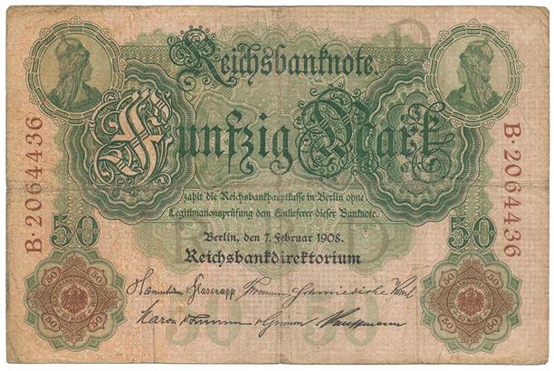 Německo, 50 Mark 1908, Ro.32