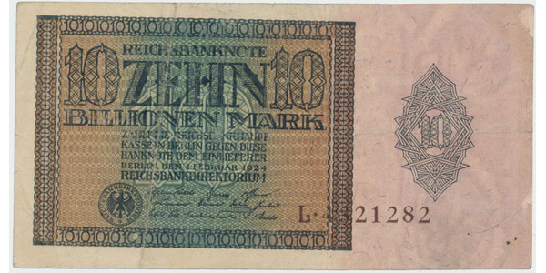 Německo, 10 Billionen Mark 1924, Ro.134a