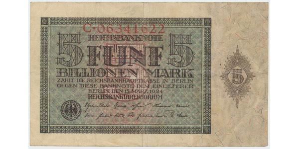 Německo, 5 Billionen Mark 1924, Ro.138