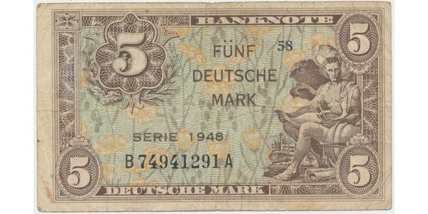 Německo - NSR, 5 DM 1948, Ro.236a