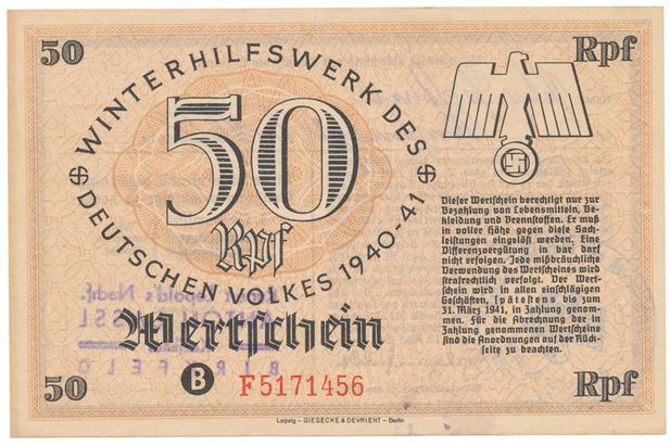 Německo - Winterhilfe, 50 Reichspfennig 1940/1941