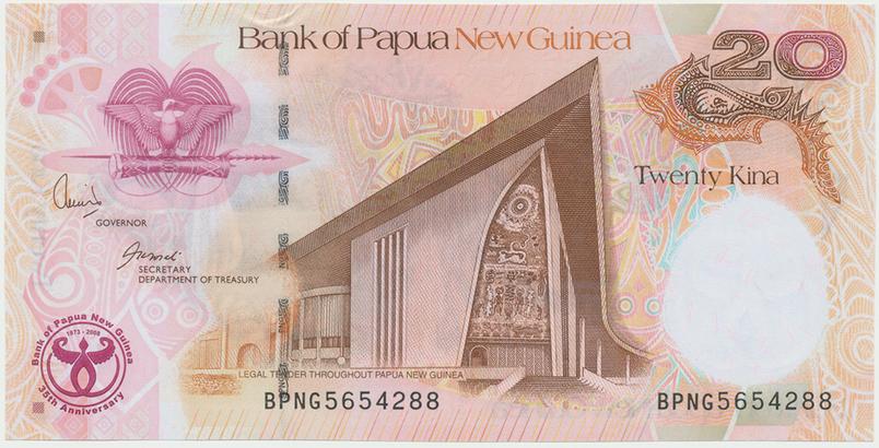 Papua Nová Guinea, 20 Kina 2008, P.36