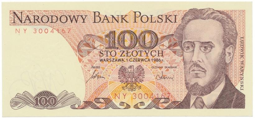 Polsko, 100 Zlotych 1985-1988, P.143e