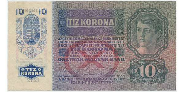 Rakousko - Uhersko, 10 K / 1915,  Baj.RU5