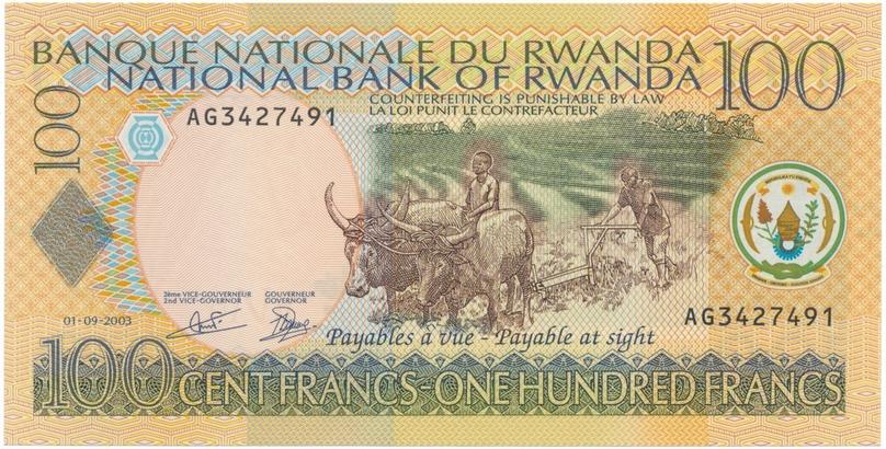 Rwanda, 100 Francs 2003, P.29b