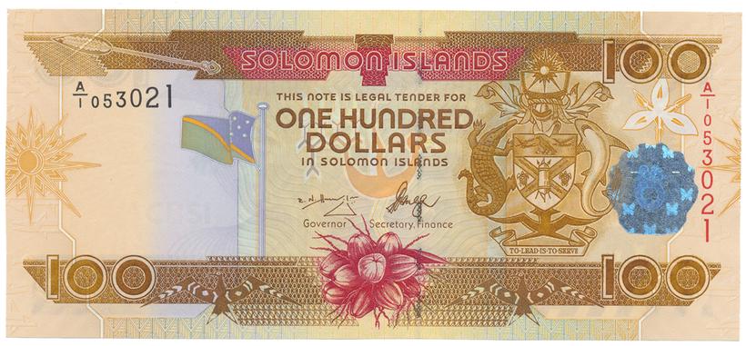 Šalamounovy ostrovy, 100 Dollars (2006), P.30