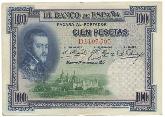 Španělsko, 100 Pesetas 1925, P.69c