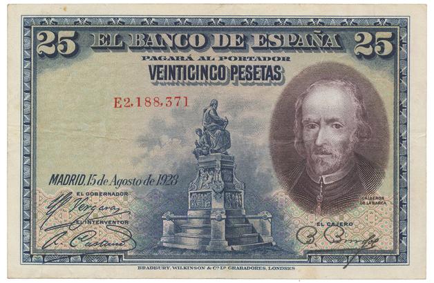 Španělsko, 25 Pesetas 1928, P.74b