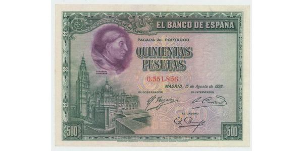 Španělsko, 500 Pesetas 1928, P.77