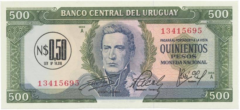 Uruguay, 0.50 Nuevos Pesos (1975), P.54