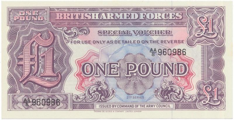 Velká Británie, 1 Pound (1948), BAF - vojenské vydání, P.M22a
