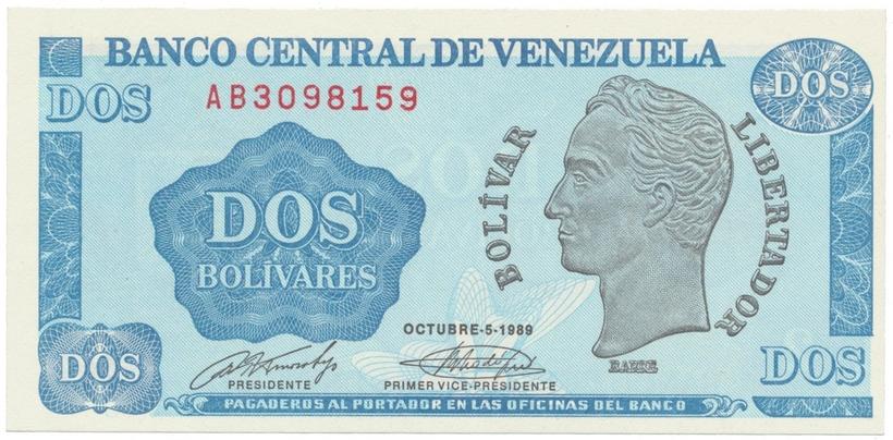 Venezuela, 2 Bolivares 1989, P.69