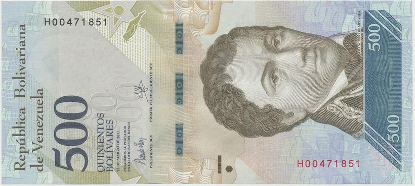 Venezuela, 500 Bolivares 2017, P.94b