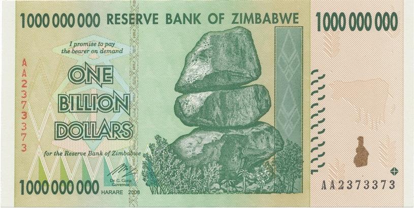 Zimbabwe, 1 Billion Dollars 2008, P.83