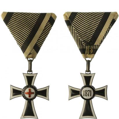 Řád německých rytířů, kříž Mariánů, II. třída, stříbro, lehce poničené smalty, značen