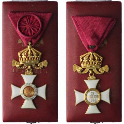 Řád sv. Alexandra s korunou bez mečů, IV. třída, důstojník, carská emise, stříbro zla