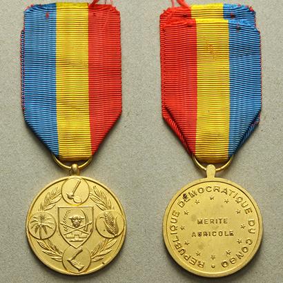 Zlatá medaile za zásluhy o zemědělství, bronz zlacená