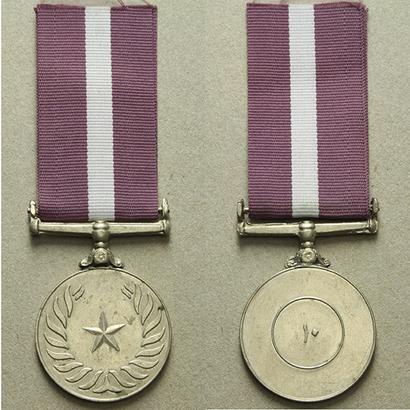 Medaile k 10. výročí republiky, bílý kov