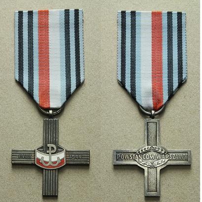 Kříž Varšavského povstání, bronz, smalty, WB.125