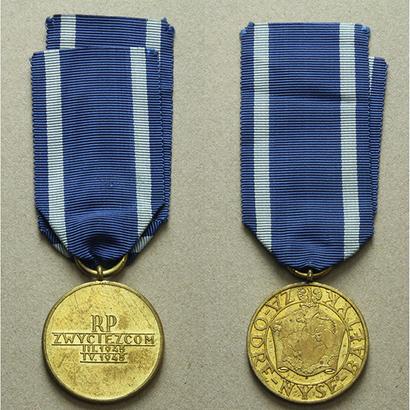 Medaile za Odru, Nisu a Balt, bronz zlacená, WB.129